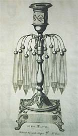Lustre with nozzle. (Plate from a manufacturers catalogue)