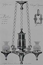 Chandelier.                                                                        (Hanging Colza Oil light. Gothic style chandelier. English, circa 1825)